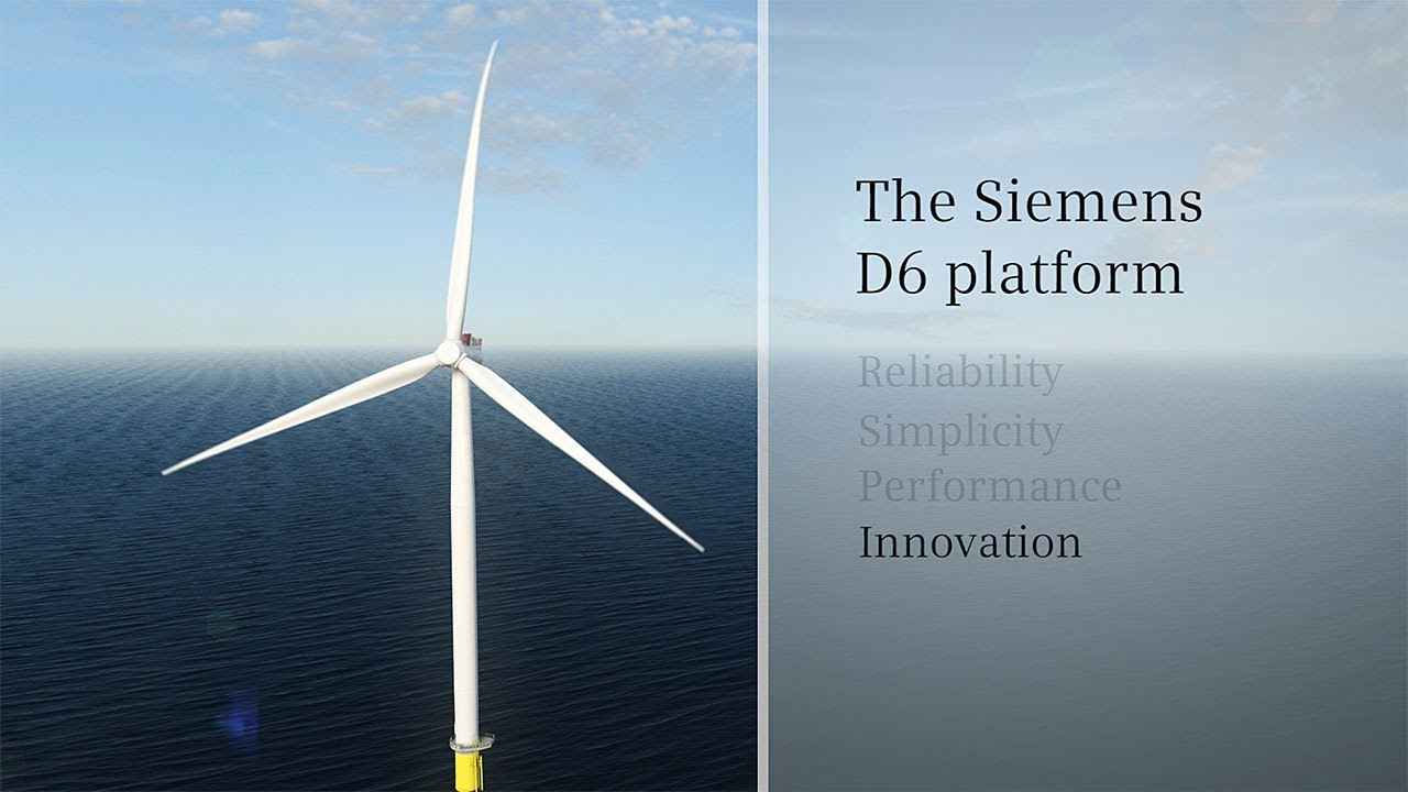 Siemens Wind Power D6 Platform Animation Youtube