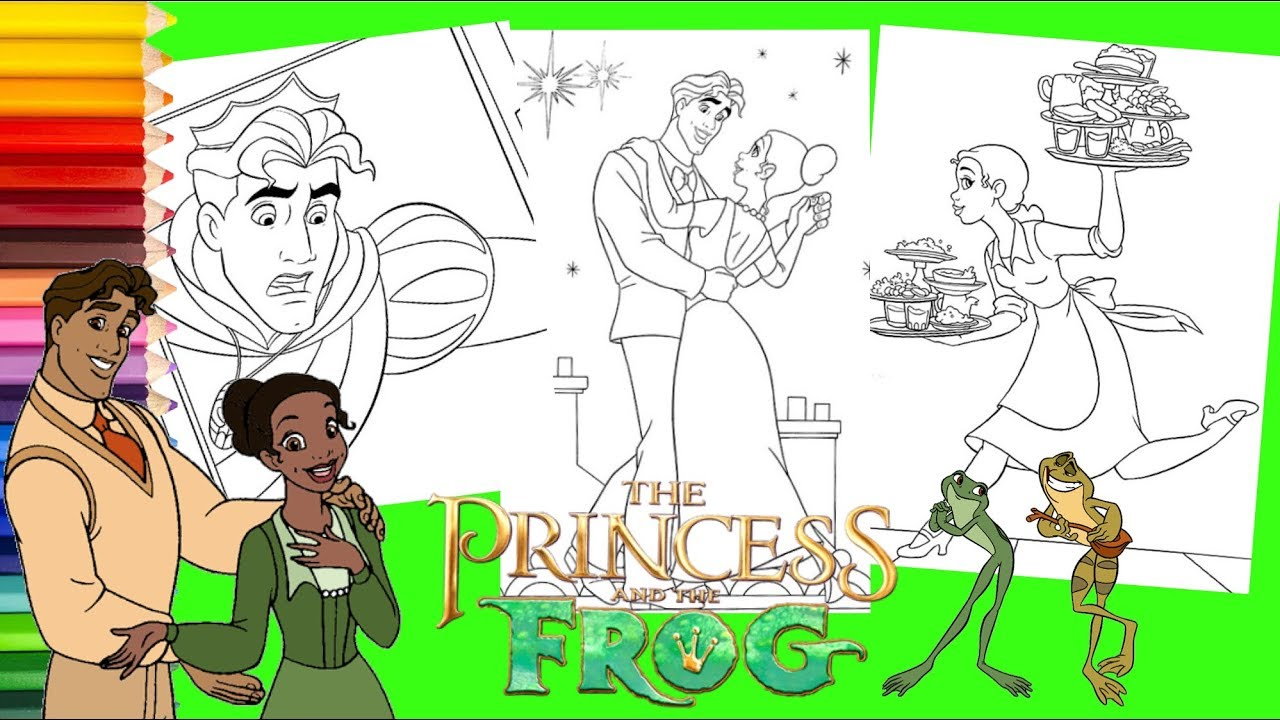 Coloring Disney Princess And The Frog Coloring Pages For Kids