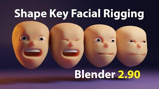 Quickly Rig Simple Chąracter Faces (Blender 2.9 Tutorial)