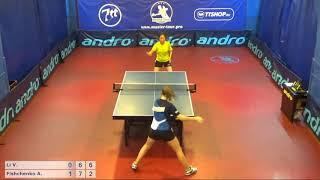 Настольный теннис матч 220718 5 Ли Виктория Фищенко Анна