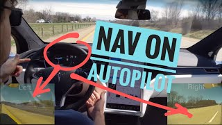 Glimpse of the future: 3 camera view of Tesla driving itself on freeways (Nav on Autopilot)