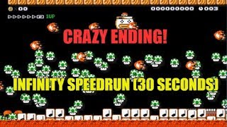 """Super Mario Maker """"Infinity Speedrun 30 Seconds"""" . A Tricky Level With An Unusual Concept"""