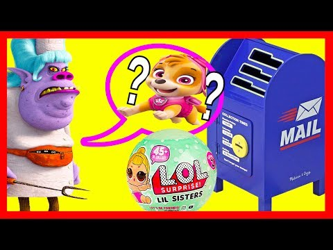 LOL Surprise Baby Series 2 Use Magic Mailbox with Paw Patrol and Trolls   Ellie Sparkles