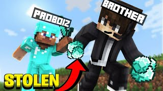 MY YOUNGER BROTHER STOLE MY DIAMONDS IN MINECRAFT  HINDI GAMEPLAY *EPIC*