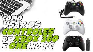 Como usar CONTROLE DE XBOX COM ou SEM FIO no COMPUTADOR PC