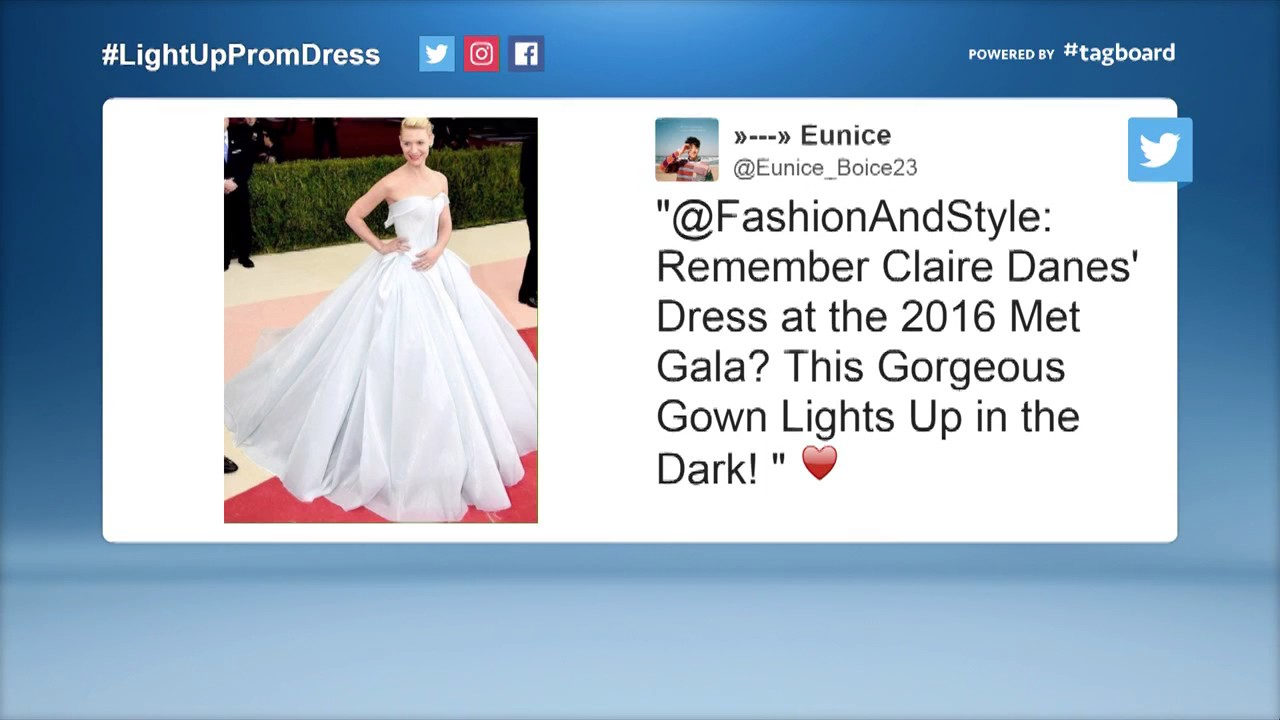 Teen Creates Light Up Prom Dress Youtube