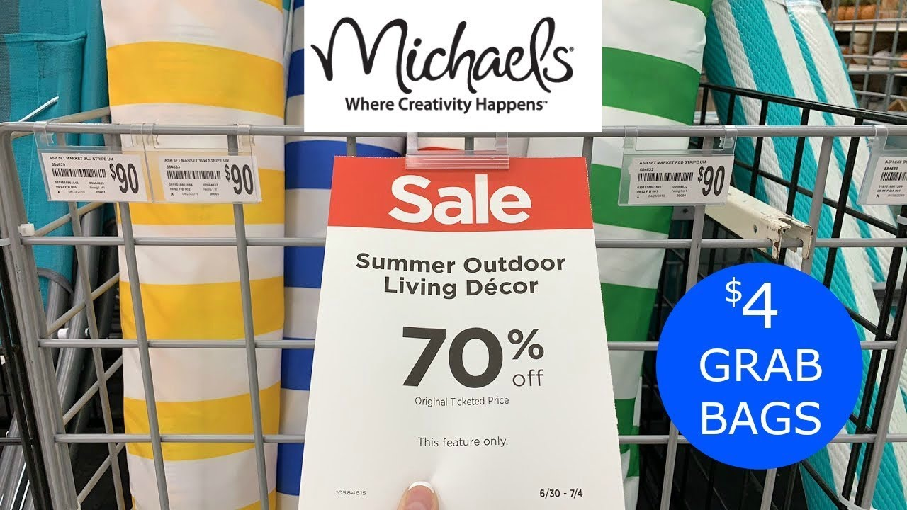 MICHAELS $4 GRAB BAGS *NEW FALL DECOR* + 70% OFF SUMMER ...