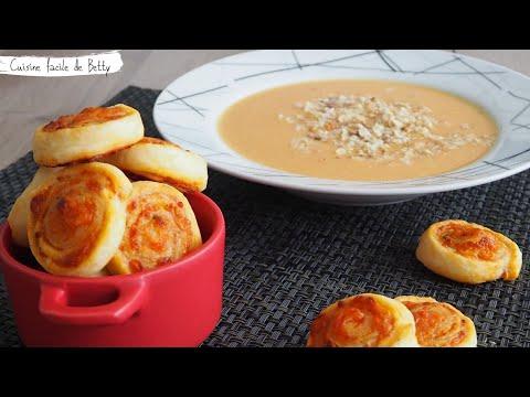 soupe-d'automne-saveur-coco-et-roulés-au-fromage-maison