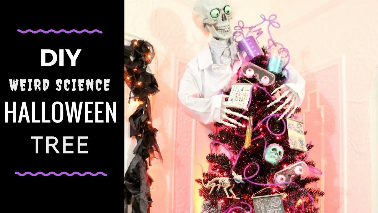 diy weird science halloween tree