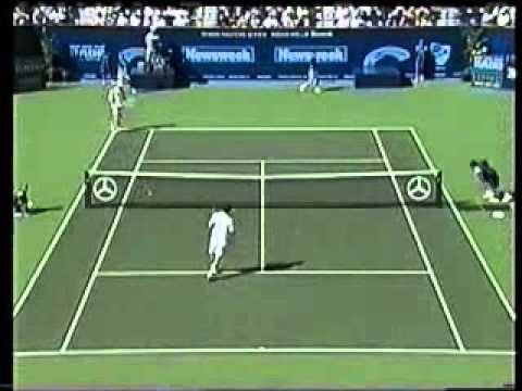 Pete Sampras great shots selection against Wayne Ferreira (Indian Wells 2000 2R)