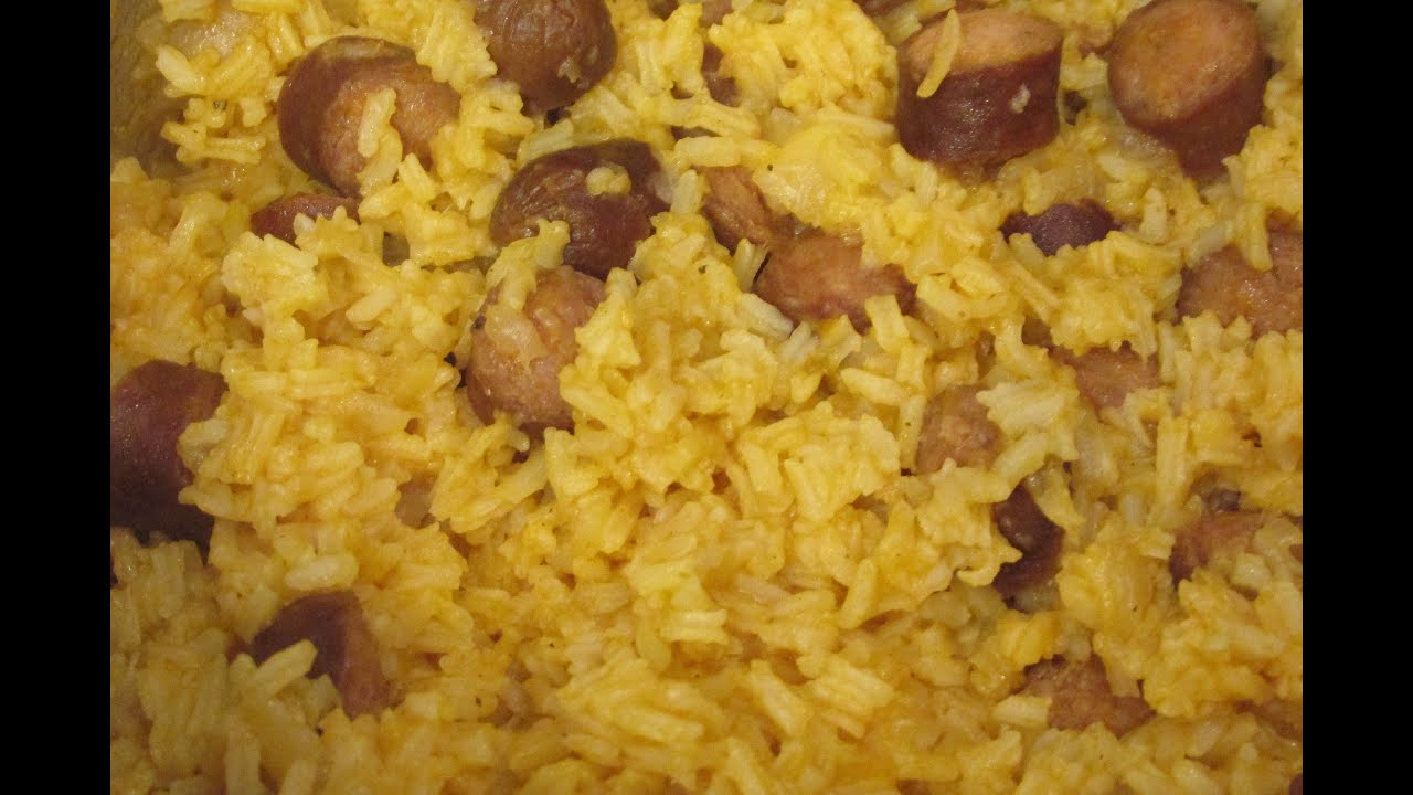 Hot Dogs Rice And Beans Recipe