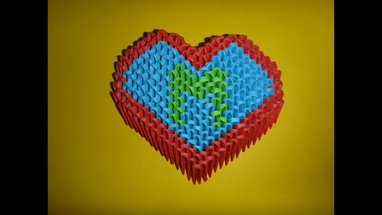 diy 3d origami ideen herz geschenk zum valentinstag. Black Bedroom Furniture Sets. Home Design Ideas