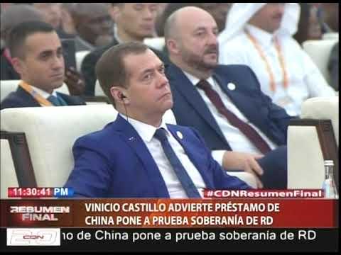 Vinicio Castillo advierte préstamo de China pone a prueba soberanía de RD