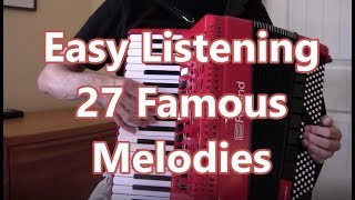 Easy Listening Accordion, All Music-No Talk, 66 Minutes