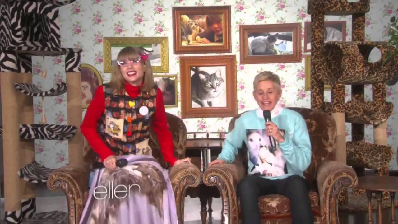 Taylor Swift On Ellen Kitty Corner Taylor Swift With Ellen Degeneres