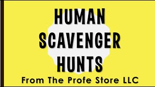 Spanish Human Scavenger Hunt Preview