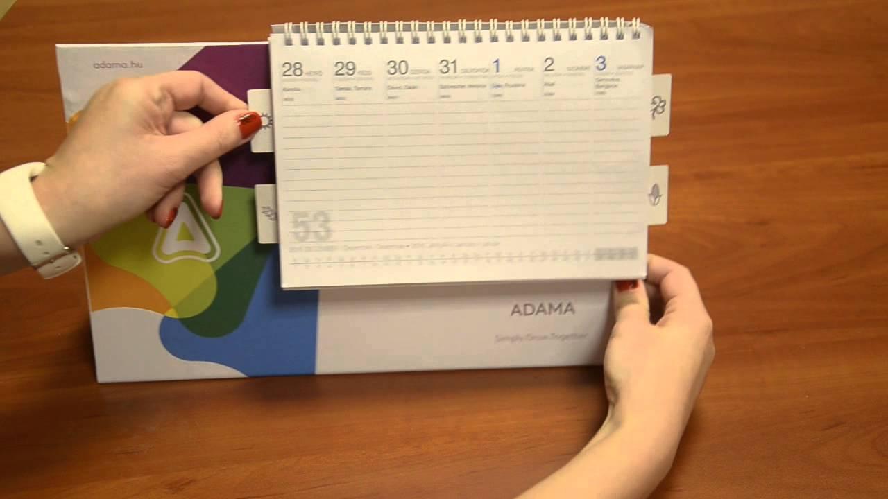 asztali naptár Asztali naptár index lapokkal   YouTube asztali naptár