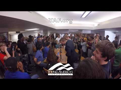 SJW Mob Surrounds, Berates Young Americans for Freedom Students