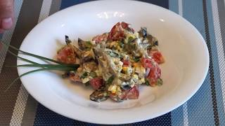 Салатик с баклажанами. Простой и вкусный рецепт