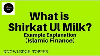 Shirkat ul Milk / Example Explanation (Urdu)