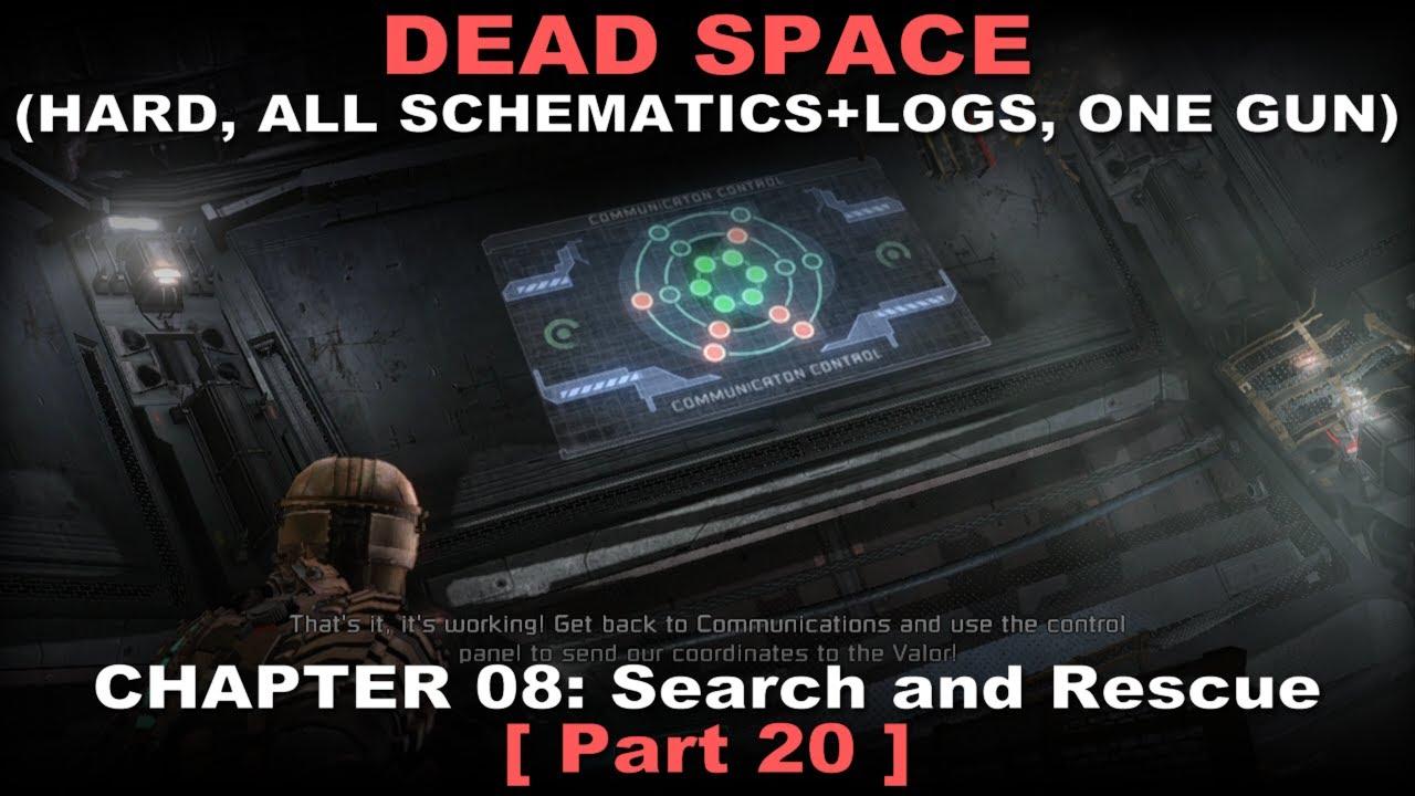 Dead Space Walkthrough 20 ( Hard, All schematics + logs, One gun achi, on