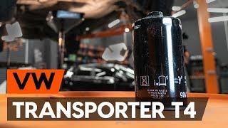 Kuinka vaihtaa öljynsuodatin ja moottoriöljy VW TRANSPORTER 4 (T4) -merkkiseen autoon