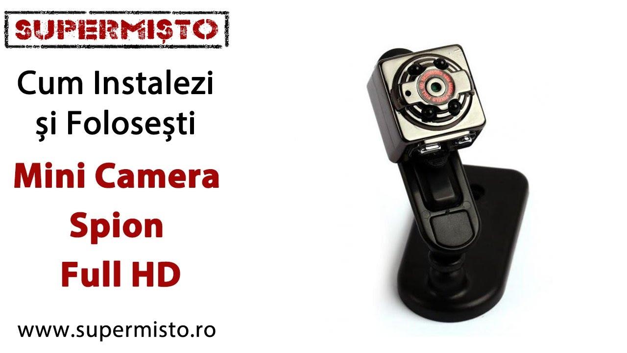 Mini Cameră Spion Full HD - ghid de instalare și funcționare