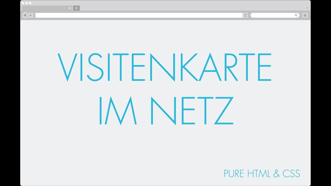 Eigene Webseite Visitenkarte Im Netz