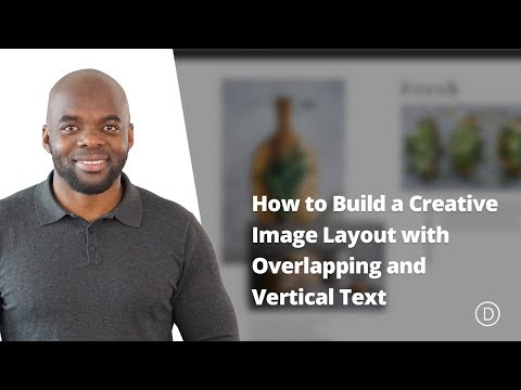 How to Build a Creative Image Layout with Overlapping and Vertical Text