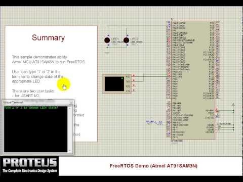 Running FreeRTOS on Cortex-M3 simulation model - YouTube