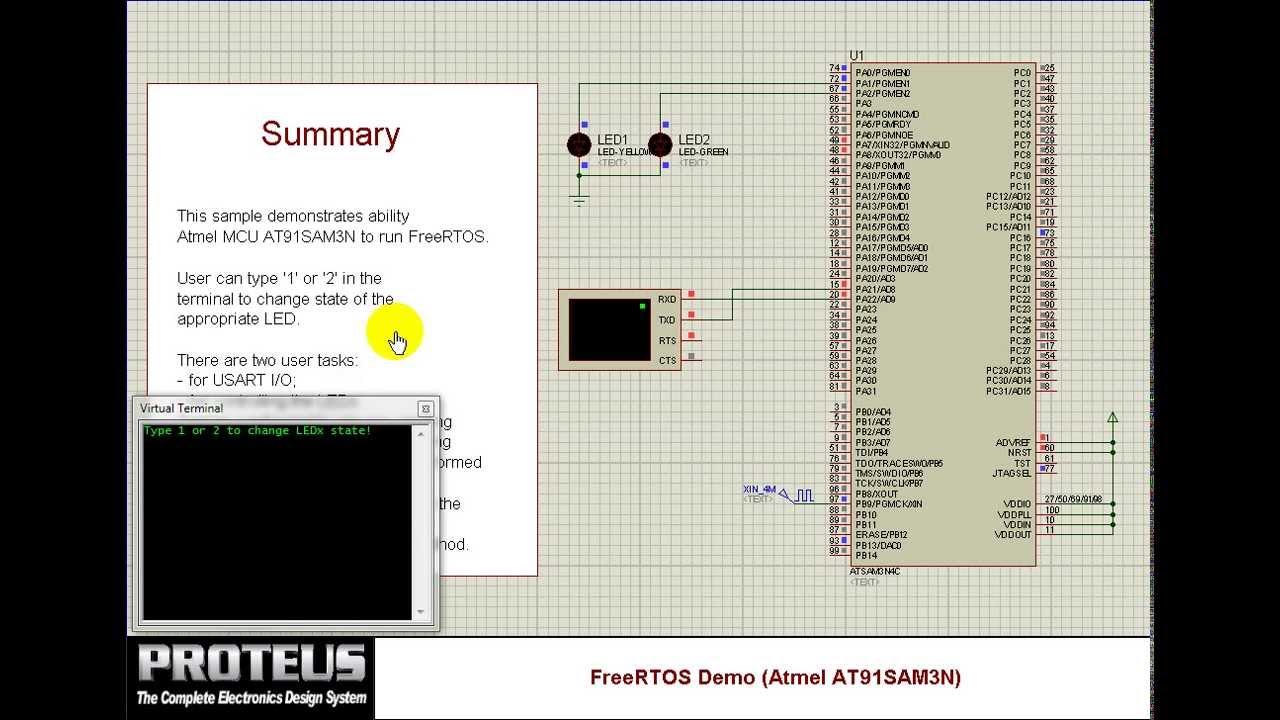 Running FreeRTOS on Cortex-M3 simulation model