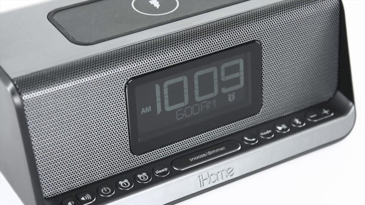 iHome iBN350: Wireless Charging Bluetooth Alarm Clock