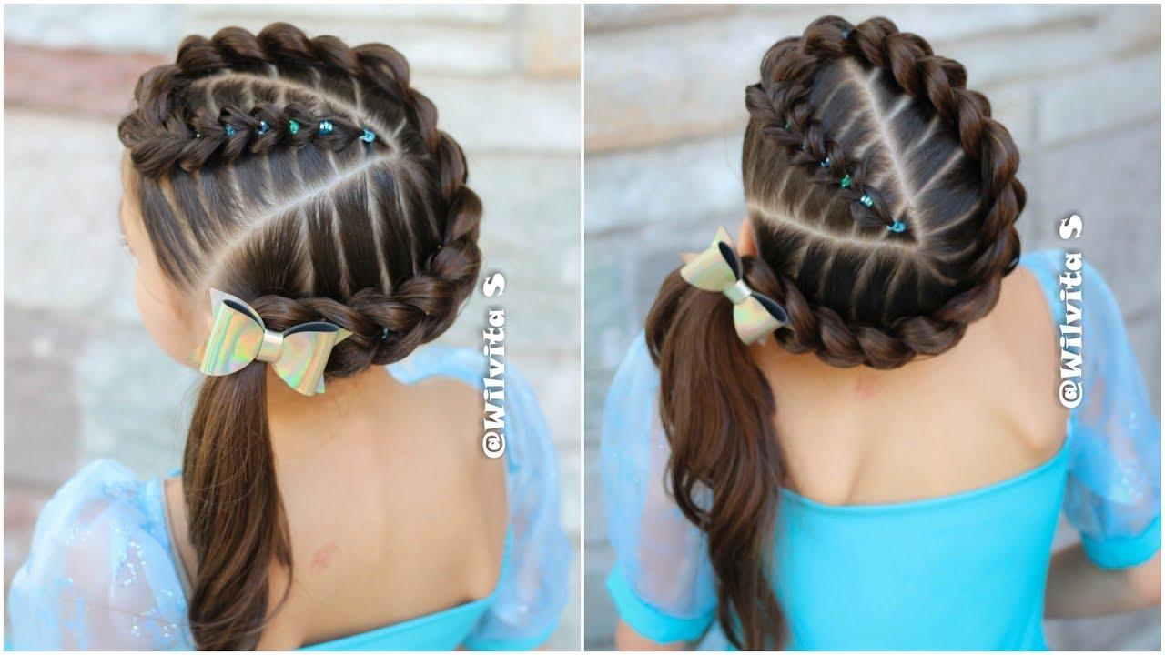 Fácil peinados con trenza Imagen de cortes de pelo estilo - Trenza Pull Through con ligas / Peinados faciles y bonitos ...