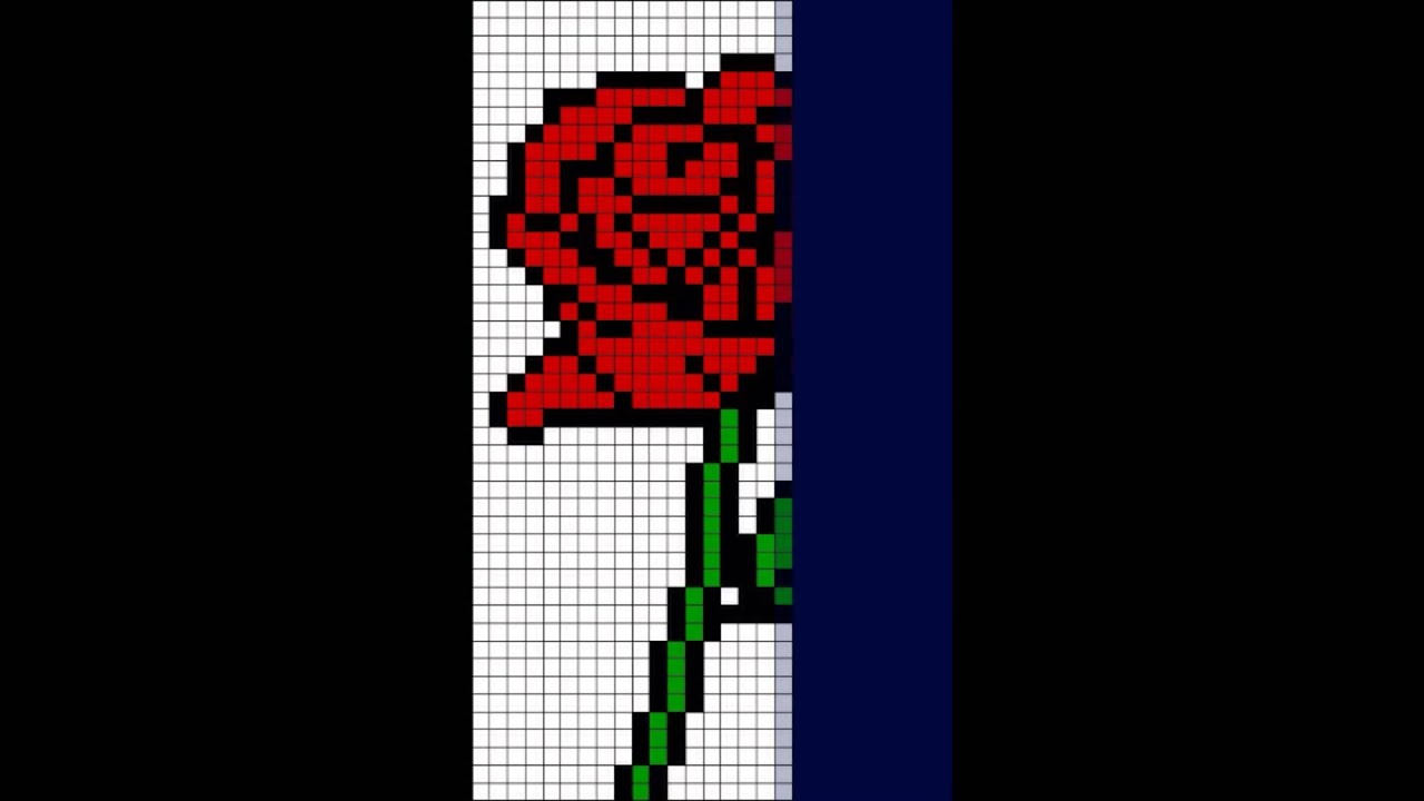 pixel art rose