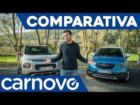 Opel Crossland X vs Citroën C3 Aircross - Comparativa / Review / Prueba / Test en español | Carnovo