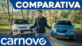 Opel Crossland X vs Citroën C3 Aircross - Comparativa / Review / Prueba / Test en español | Carnovo