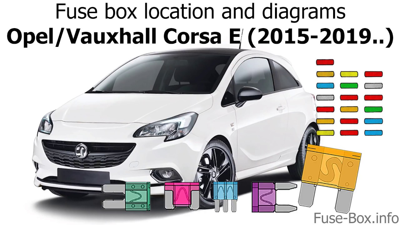 fuse box location and diagrams opel vauxhall corsa e 2015 2019  [ 1280 x 720 Pixel ]