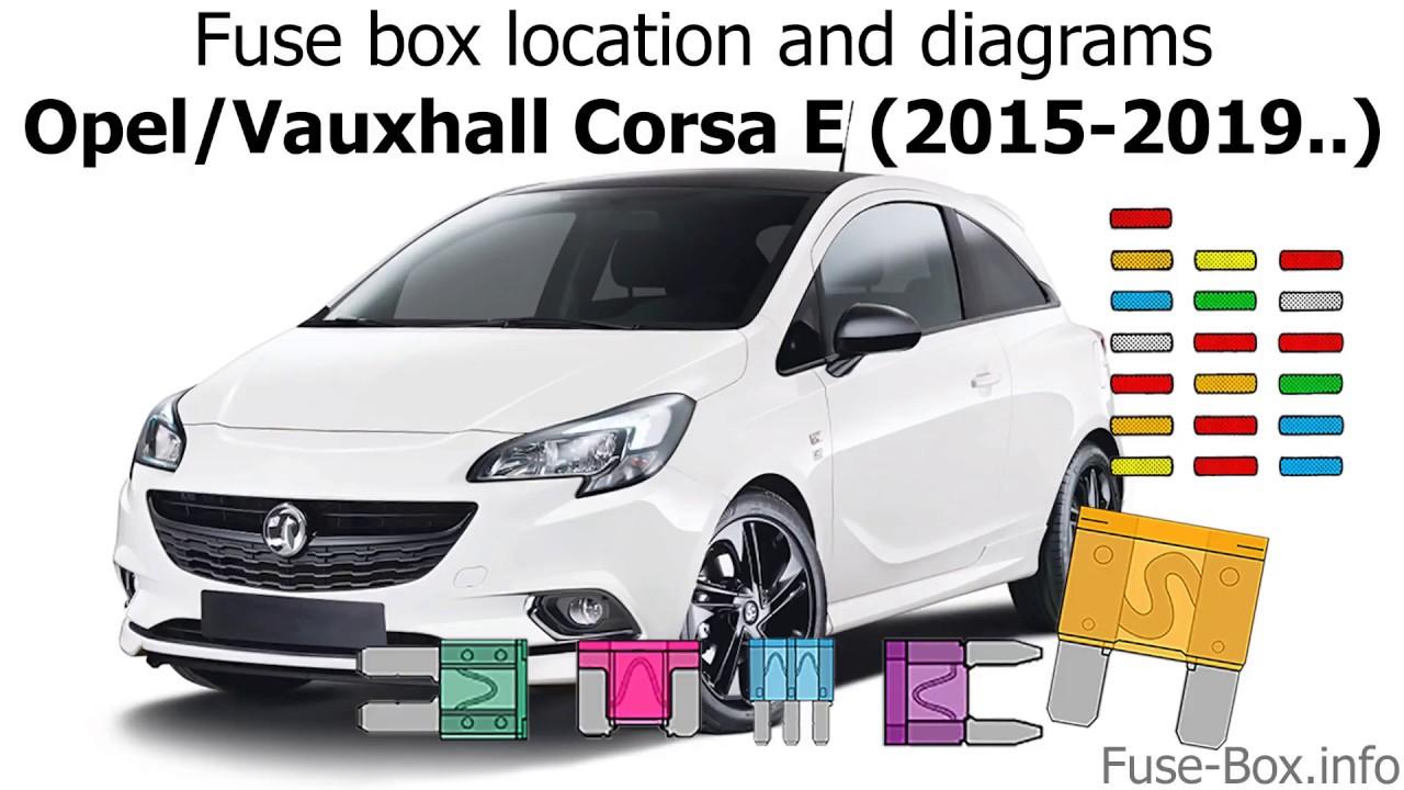 small resolution of fuse box location and diagrams opel vauxhall corsa e 2015 2019 fuse box diagram corsa e