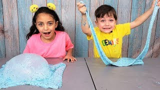 Zack Making Giant Color Slime with Heidi