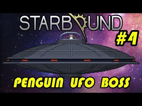 Starbound - Penguin UFO boss kill! | Entry #4