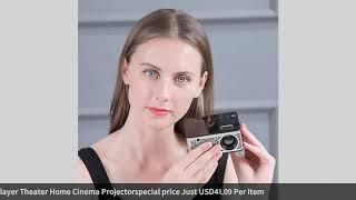 HD 1080P TFT LCD Portable Home Mini HD Projector TV Home Multi-Media Player