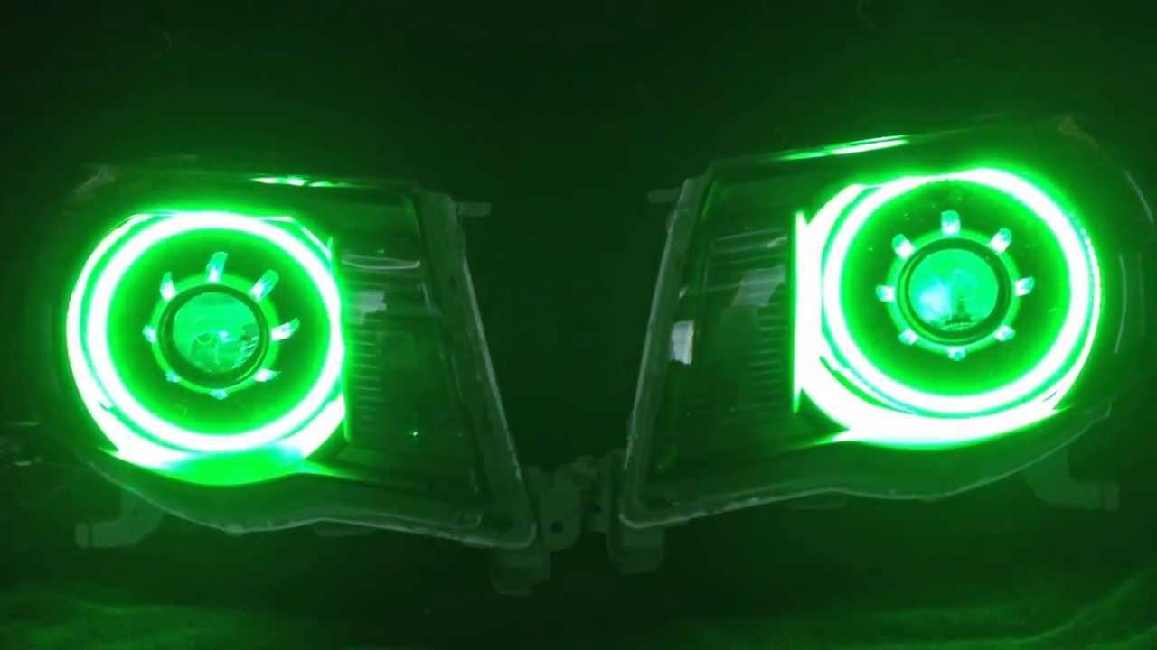 ... projector retrofits. 05-11 Toyota Tacoma HazardousLighting - YouTube