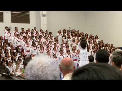Kamehameha Schools Maui Campus 2019 'Aha Mele Freshman Class Singing Pili K?pekepeke