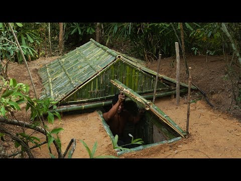 Building The Most Underground Bamboo House By Ancient Skill