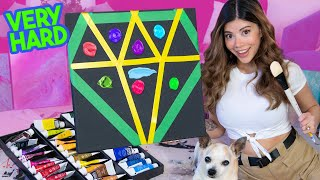 I tried Painting Heaven in a Diamond | Acrylic Challenge