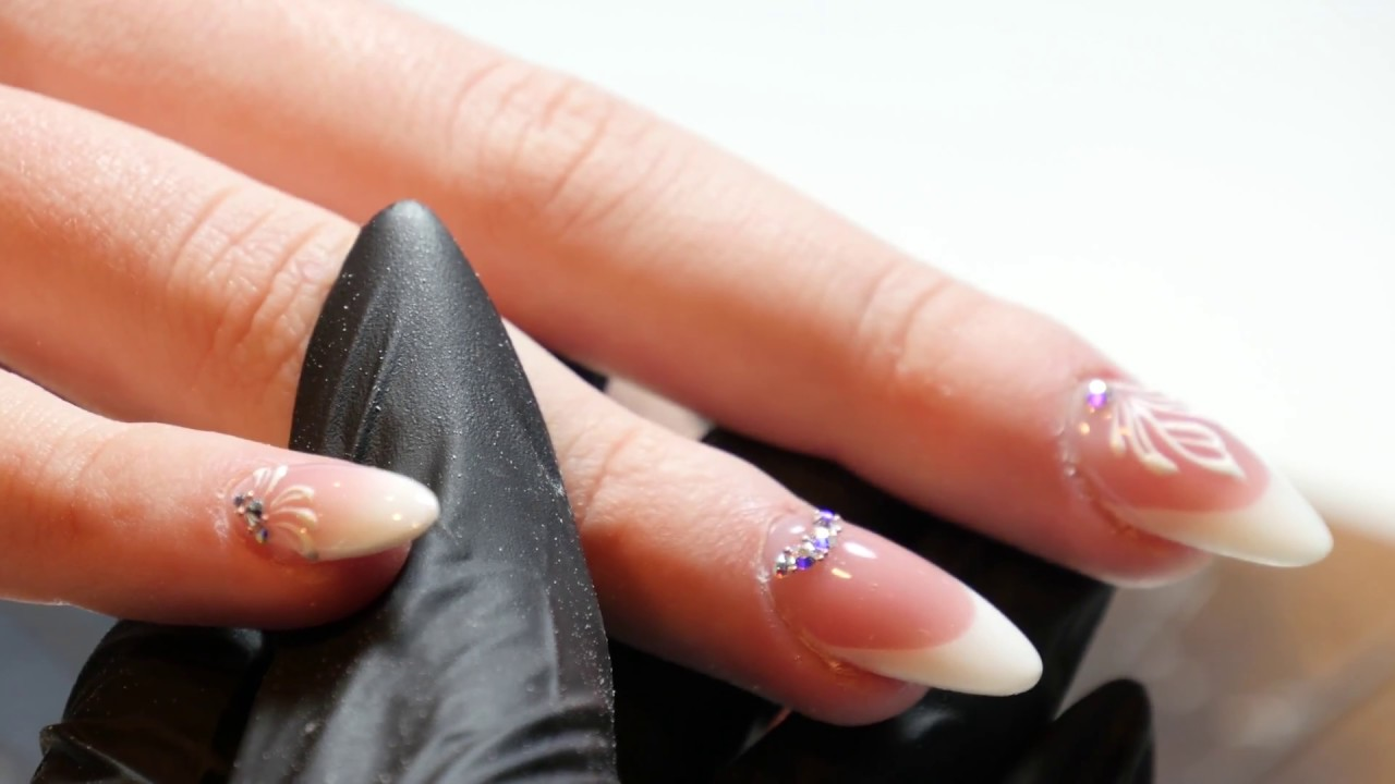 French Manicure met neXt Gel - YouTube