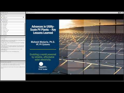 Advances in Utility-Scale PV Plants: Key Lessons Learned