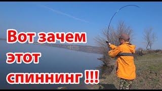 Рыбалка на реке ловля окуня на джиг спиннинг Azura 20 Kenshin 7 9