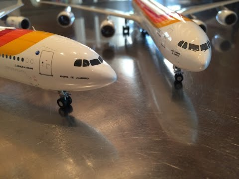 "Unboxing and review JC Wings JC2IBE096, 1:200 Iberia A340-642, EC-JOH, ""Miguel De Unamuno"""