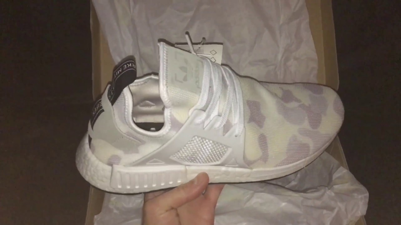 50a74f4c90fb5 Adidas NMD XR1 Duck Camo White Unboxing - YouTube